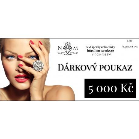 DÁRKOVÝ POUKAZ 5000 Kč