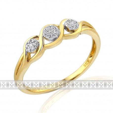 GEMS 381-1872 prsteň s briliantmi