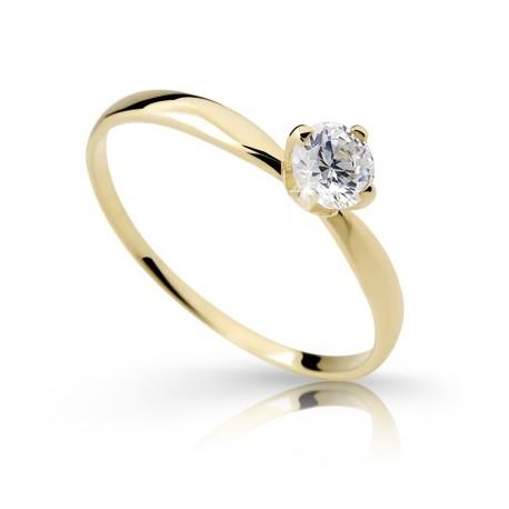 46cdf73f2 DANFIL DF2365Z zásnubný prsteň s diamantom - žlté zlato