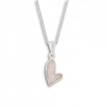 NM LOP014 Anhänger Herz mit Opal